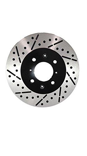 [Front Drill&Slot Brake Rotors Ceramic Pads] Fit 90-97 Volkswagen Passat w/4Lug