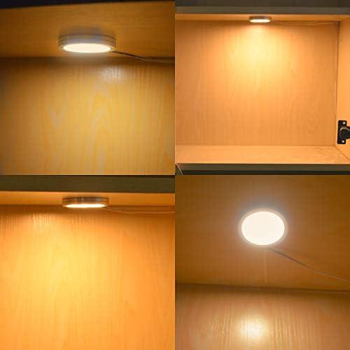 Lightess Lampe de Placard led 6er /Éclairage Sous Meuble Rechargeable Lumi/ère Armoire Applique Murale pour Cabinet Penderie Cuisine Entr/ée Couloir Toilette Blanc Chaud