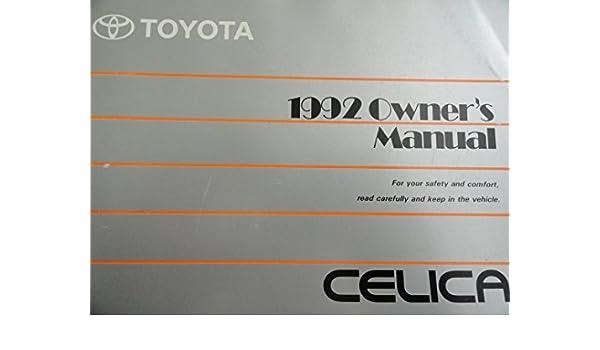 1992 toyota celica owners manual toyota amazon com books rh amazon com 1993 Celica 1993 Celica