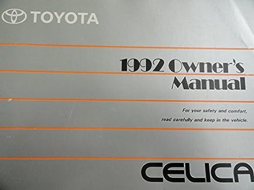 1992 toyota celica owners manual toyota amazon com books rh amazon com 1996 Celica 1990 Celica