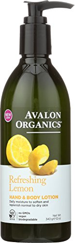Avalon Organics Hand & Body Lotion, Refreshing Lemon, 12 Ounce