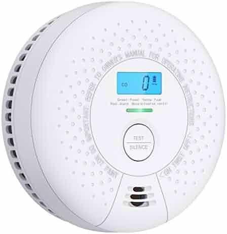 X-Sense 10 Year Battery Smoke and Carbon Monoxide Detector with Display, Dual Sensor Smoke CO Alarm Complies with UL 217 & UL 2034 Standards, Auto-Check, SC01