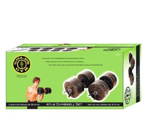 Gym 40 Livre LB Vinyl Cement poids d'haltère Set d'or