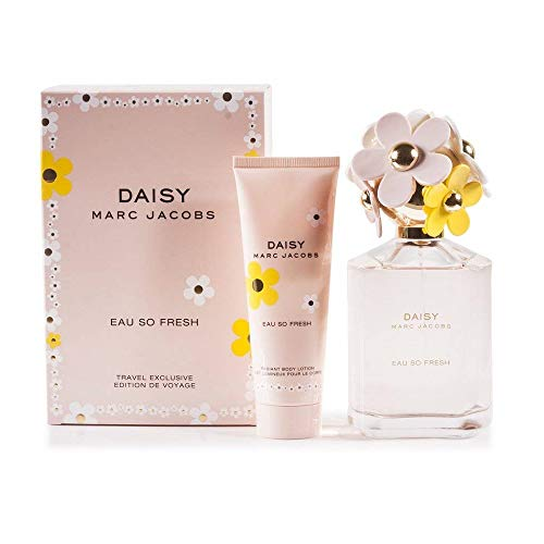 Marc Jacobs Daisy Eau So Fresh 2-Piece Fragrance Set (Eau de Toilette Spray, 4.2 Ounce and Body Lotion, 2.5 Ounce ) ()