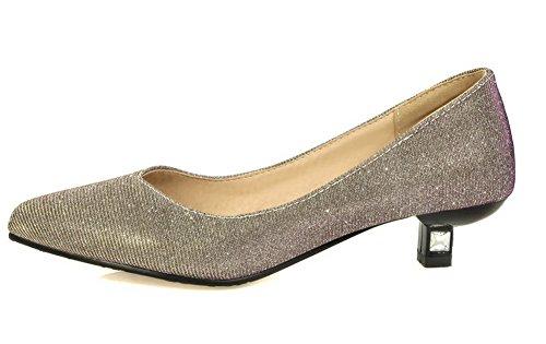 Donna VogueZone009 Lucido Ballet Tirare Oro Flats Tessuto Puro THHnfwqBa