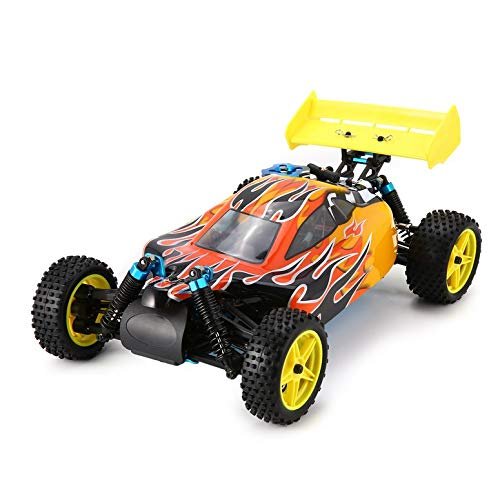 Gas Remote Car Nitro Control (Lovescenario 94166 1/10 Scale 2.4G 4WD Gas Nitro Power Off Road Buggy RC Cars Truck RTR Toys Remote Control Vehicle with 70km/h High Speed Unique's)