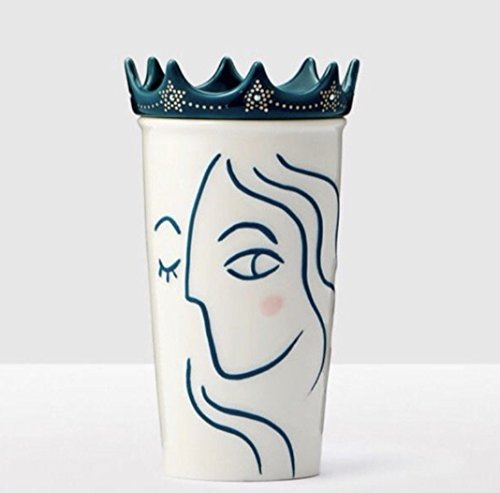 2017 Crown Lid Siren Anniversary Collection White Double Wall Traveler by Starbucks