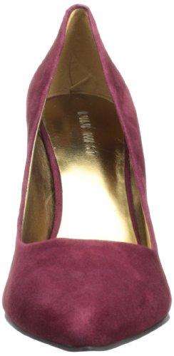 Nine West Flax - Zapatos de vestir de cuero para mujer rojo Wine