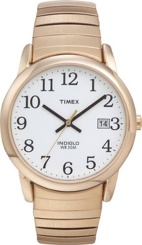 Mens Gold Tone Wrist Watch (Timex Men's T2H301 Easy Reader Gold-Tone Stainless Steel Expansion Band Watch)