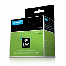 """DYMO LabelWriter Label Thermal, Printer Labels Diskette 2-1/8"""" x 2-3/4"""" 400 Labels, Box of 1, White (30258)"""