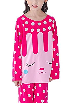 LLIOFUS Little Boy$Girl 2ps Sleepwear Long Sleeve Soft Cotton Pajama Kid pjs set