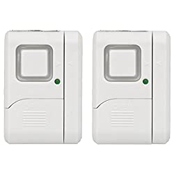 Ge Personal Security Windowdoor Alarm, Diy Home Protection, Burglar Alert, Magnetic Sensor, Offchimealarm, Easy Installation, Ideal For Home, Garage, Apartment, Dorm, Rv & Office, (2 Pack), 45115