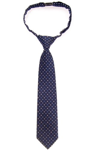Retreez Vintage Three-Color Polka Dots Woven Pre-tied Boy's Tie - Navy Blue - 4-7 years ()