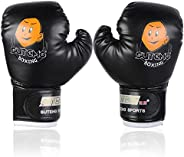 Kids Boxing Gloves,Youth Sparring Punching Training Gloves for Age 3-12 Years ( Color : Black )