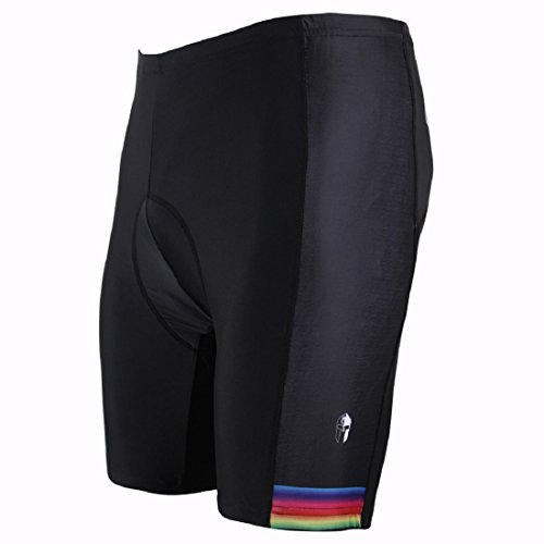 Paladin Mens Cycling Shorts with Inner Padded Color Edge Pattern Bike Jersey Size XXL