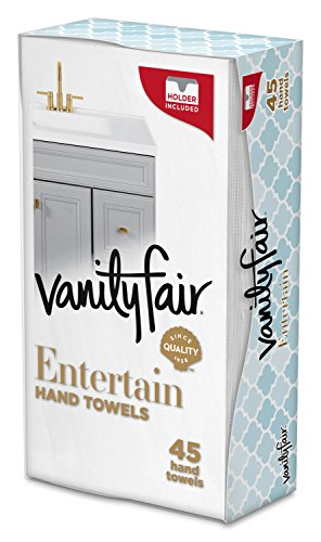 Vanity Fair Impressions Disposable Hand Towels, Paper Hand Towels, 45 Count ()