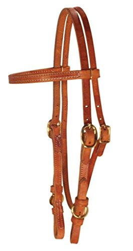- Berlin Custom Leather Headstall Hermann Oak Buckle Chestnut H102