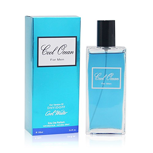 COOL OCEAN, 3.4 fl.oz. Eau De Toilette Spray for Men, Perfect Gift -
