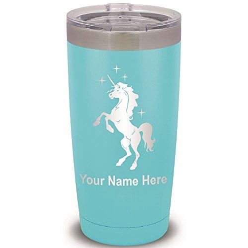 20oz Tumbler Mug, Unicorn, Personalized Engraving Included