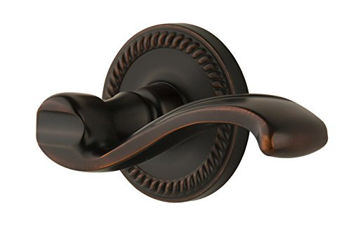 PRT-TB Newport Rosette with Portofino Lever, Passage Right Handed, Timeless Bronze Finish by Grandeur (Tb Newport Rosette)
