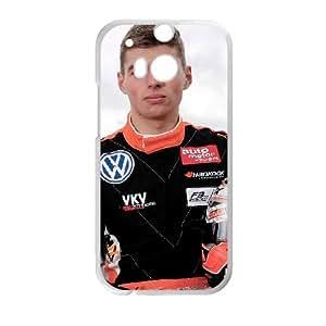 Max Verstappen 1 funda HTC One M8 caja funda del teléfono celular del teléfono celular blanco cubierta de la caja funda EVAXLKNBC24945