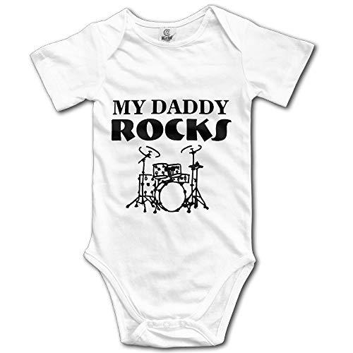 (Cotton Baby Onesie My Daddy ROCKS Drums Romper)