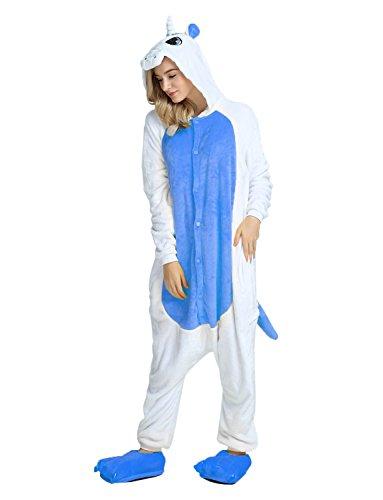 Blu Regalo Animali Carnevale Ragazza scuro Unicorno Adulti per Costume Costumi Tuta Halloween Intero Travestimenti Pigiama Pigiamone q6OIw