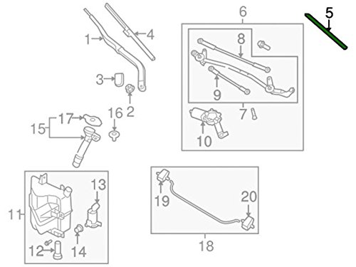 Wiper Blade Refill 28895-1MA1B Genuine Nissan