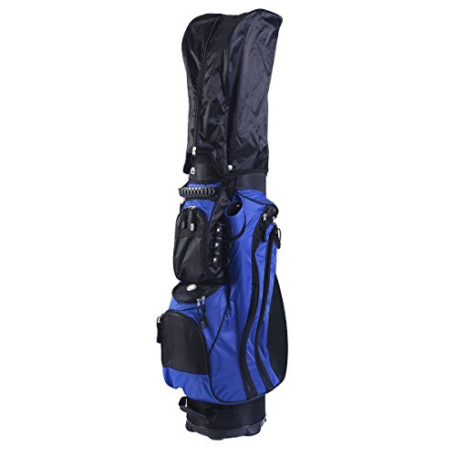 Tangkula 2016 Golf Carry Bag 14 Way Divider Lightweight w/Carry Belt Blk&Blue by TANGKULA (Image #3)