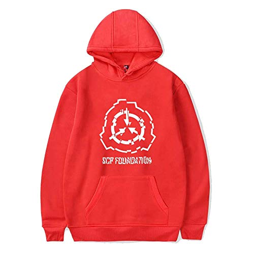 (SCP Foundation Surrounding Casual Korean Version of Hoodies Red E XXXL)