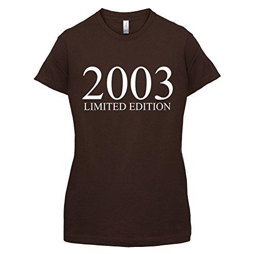 2003 Limierte Auflage / Limited Edition - 14. Geburtstag - Damen T-Shirt - Dunkles Schokobraun - XXL