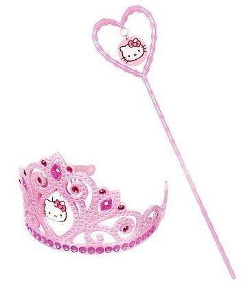 Cakesupplyshop Pink Hello Kitty Tiara and Wand (Hello Kitty Crown)