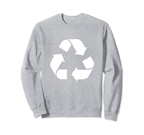 Green Recycling Pullover Sweatshirt 2XL Heather Grey ()