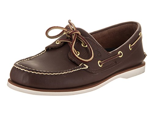 Boat Mens Classic (Timberland Men's Classic 2-Eye Boat Shoe, Dark Brown, 9 M)