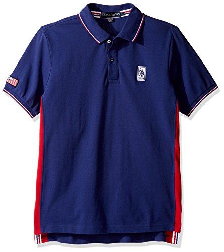U.S. Polo Assn. Men's Solid Short Sleeve Classic Fit Pique Polo Shirt, Marina Blue, (Classic Solid Pique Polo)