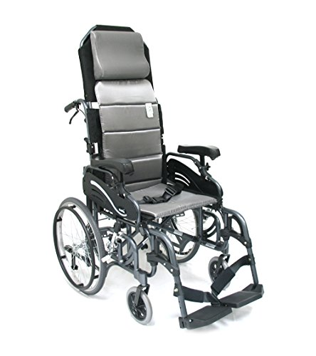 Karman Healthcare VIP515-18-E VIP515 18 in. seat Tilt in Space Lightweight Reclining Wheelchair