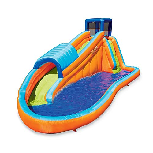 - BANZAI 90330 Surf Rider Inflatable Backyard Outdoor Water Park with Blow Motor