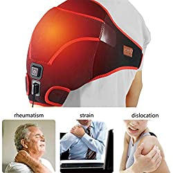 CREATRILL Far Infrared Shoulder Heating pad, 3 Temperature Setting Heated Brace Wrap for Rotator Cuff, Joint Capsule, Arthritis, Tendonitis, Frozen Stiff A.C Joints, Pain Relief Hot Therapy