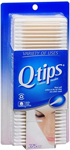 Q-tips Swabs 375 Each (Pack of 11) by Q-Tips