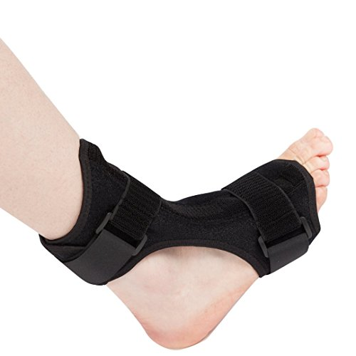 MEDIZED Plantar Fasciitis Night Splint Therapy Wrap Posterior Foot Drop Ankle Instep Injury Rehabilitation Orthotic (Black Night - Splint Drop Foot