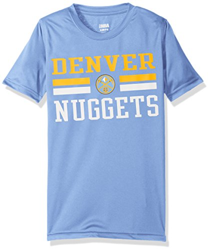 NBA Youth 8-20 Nuggets performance Short sleeve Tee, M(10-12), Light Blue