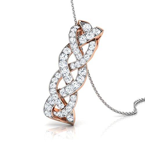 Or Rose 14K 0.25CT TW Round-cut-diamond (IJ | SI) Pendentif