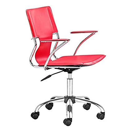 Tremendous Zuo Modern Trafico Office Chair Red Andrewgaddart Wooden Chair Designs For Living Room Andrewgaddartcom