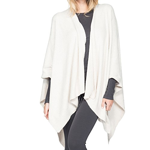 BarefootDreams Bamboo Chic Lite Weekend Wrap (Stone/Pearl)