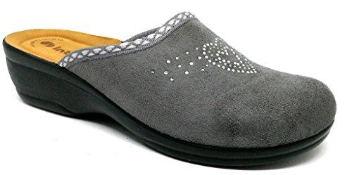 5 Inblu Per Donne Grigi Le 37 Pantofole wr4Yr