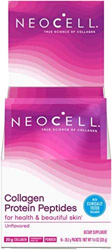 Neocell Collagen Protein Peptides – for Heathy & Beautiful Skin, Unflavored – 16 Packets