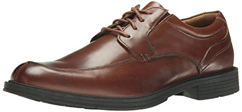 Florsheim Men's Mogul Moc Toe Oxford, Cognac, 9.5 D US - Split Toe Oxfords