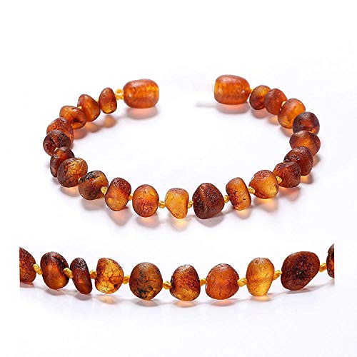 - FightLY Baltic Amber Teething Bracelet/Anklet for Baby Simple Package Lab Tested Authentic 4 Sizes 10 Colors,Cognac Raw,China,Large 20cm