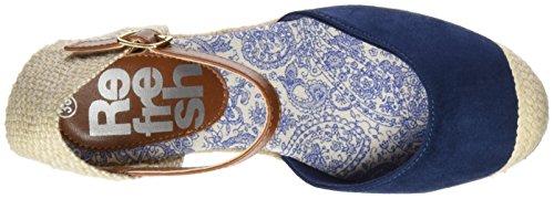 Refresh 063573, Sandalias con Plataforma para Mujer Azul (Navy)