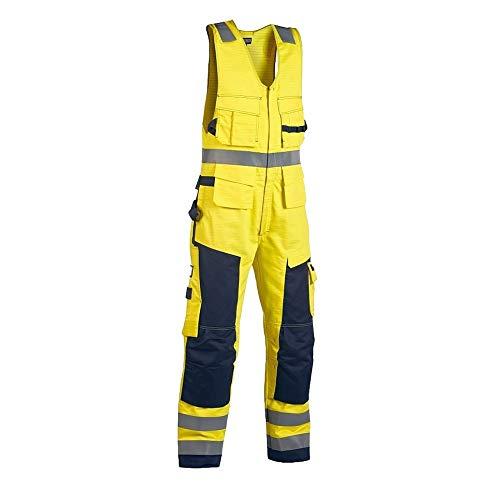 38L UK Blaklader Workwear Multinorm Sleeveless Overall Yellow//Navy Blue C154